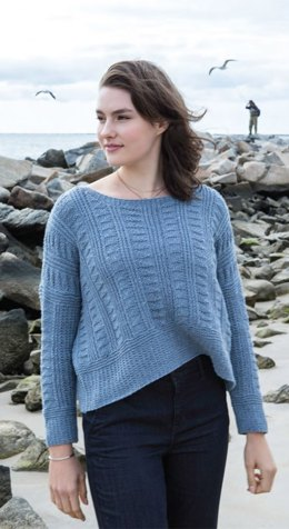 Opa Pullover in Berroco Indigo - Downloadable PDF