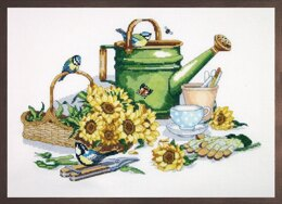 Janlynn Corporation Watering Can Cross Stitch Kit