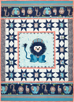 Michael Miller Fabrics Born To Be Wild Quilt - Downloadable PDF