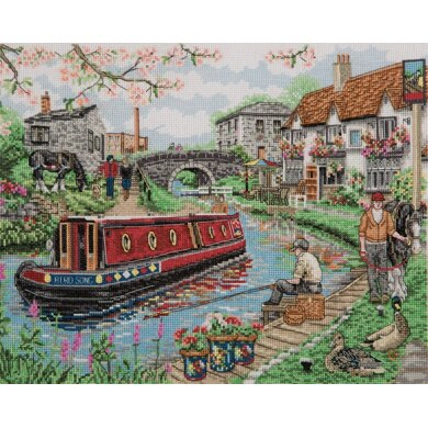 Anchor Country Canal Cross Stitch Kit - 25cm x 31cm