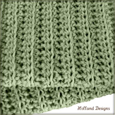 Simple Knit-Look Blanket