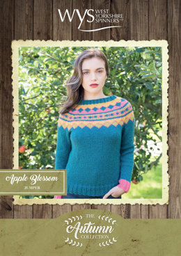 Apple Blossom Sweater in West Yorkshire Spinners Bluefaced Leicester Solids Aran - Downloadable PDF