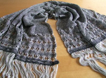 Wrap1 Glamorous Reflection Weaving Knitting Project By Eve W