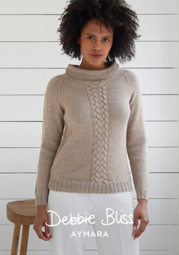 """Dunwich Jumper"" - Jumper Knitting Pattern For Women in Debbie Bliss Aymara - DB266"