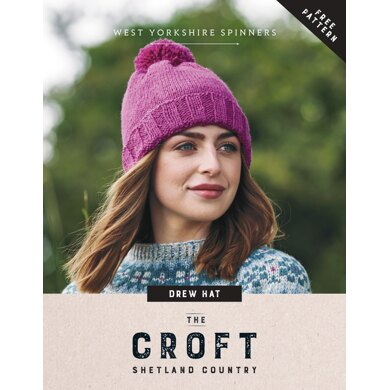 Drew Hat in West Yorkshire Spinners The Croft - Downloadable PDF