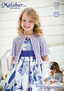 Girls Occasion Cardigans in Stylecraft Malabar Aran - 9166