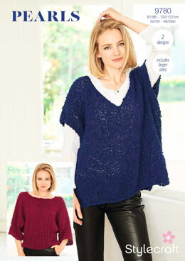 Sweater and Top in Stylecraft Pearls - 9780 - Downloadable PDF