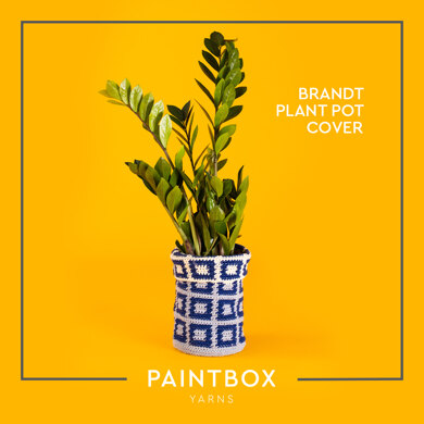 Brandt Plant Pot Cover - Free Crochet Pattern For Home in Paintbox Yarns Recycled Cotton Worsted by Paintbox Yarns