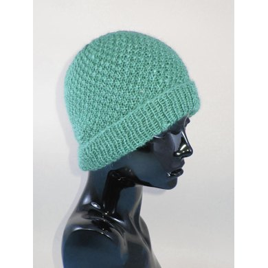 Double Moss (Seed) Stitch Beanie Hat
