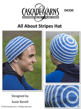 All About Stripes Hat in Cascade Fixation - DK330