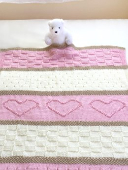 Heart Baby Blanket and Throw