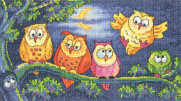 Heritage A Hoot of Owls Cross Stitch Kit - 20cm x 11cm