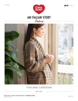 Toscana Cardigan in Red Heart Ombra - LM6049 - Downloadable PDF