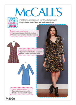 McCall's Misses' Dresses M8020 - Sewing Pattern