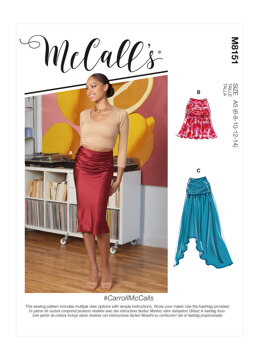 McCall's Misses' Skirts M8151 - Sewing Pattern