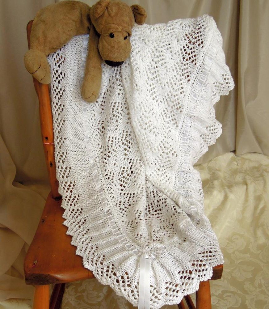 Baby Blanket, sure to become an heirloom Knitting pattern by OGE Knitwear Des...