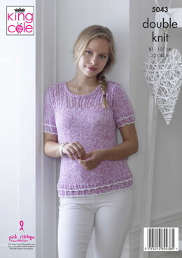 Tops in King Cole DK - 5043 - Downloadable PDF