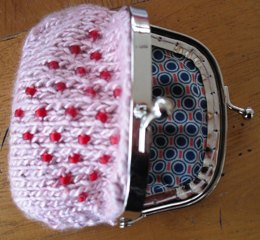 Precious beaded coin purse