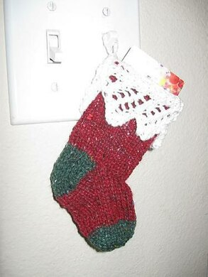 Lace Stocking Gift Card Holder