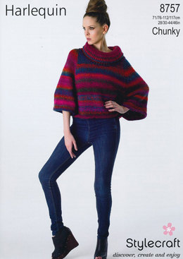Cape in Stylecraft Harlequin Chunky - 8757