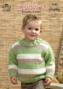 Sweaters and Cardigan in King Cole Comfort Chunky - 3182