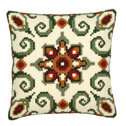 Vervaco Red/Cream Cushion Front 8 Chunky Cross Stitch Kit