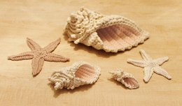 Crochet Conch Shell and Starfish