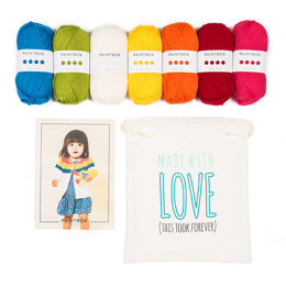 Rainbow Cardigan Knitting Kit in Paintbox Yarns
