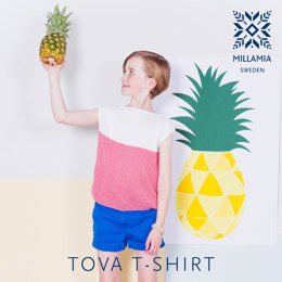 Tova T-shirt in MillaMia Naturally Soft Cotton - Downloadable PDF