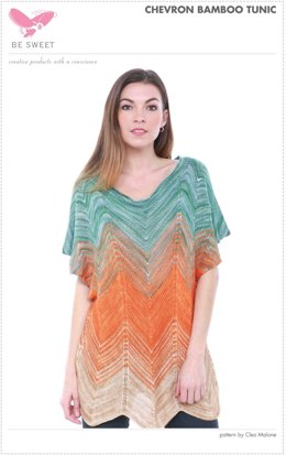 Chevron Bamboo Tunic in Be Sweet Bamboo