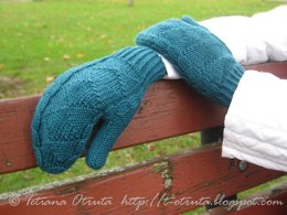 Spruce mittens / fingerless gloves