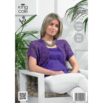 Ladies' Cardigans in King Cole Opium and Bamboo Cotton - 3886