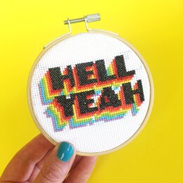 The Make Arcade Midi Cross Stitch - Hell Yeah
