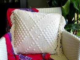 Crochet Cushion Cover Boho Diamond