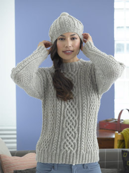 808d58e07 Inishturk Sweater and Tam in Lion Brand Fishermen s Wool - 90047AD