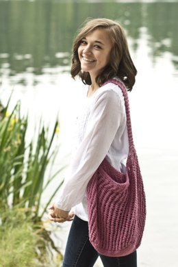 Beach Bag in Cascade Yarns Sunseeker - DK352 - Downloadable PDF