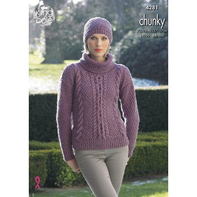 Sweater & Hat in King Cole New Magnum Chunky - 4281 - Downloadable PDF