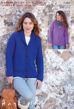 Cardigans in Hayfield Chunky with Wool - 7381