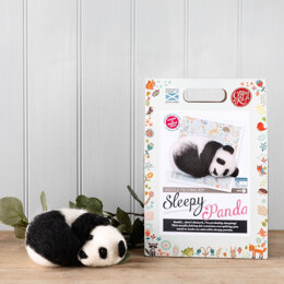 The Crafty Kit Company Sleepy Panda Needle Felting Kit - 190 x 290 x 94mm