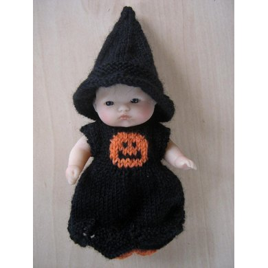 "5"" Berenguer Doll Halloween Witch Knitting Pattern"