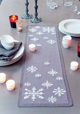 First Fall Table Runner in MillaMia Naturally Soft Merino - Downloadable PDF