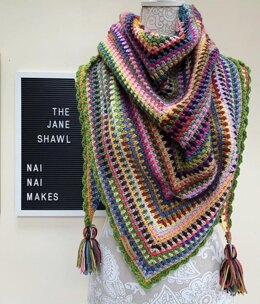 The Jane shawl & scrapcake pattern