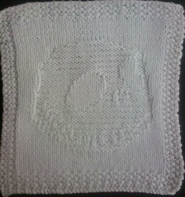 Jack Skellington Knitted Dishcloth