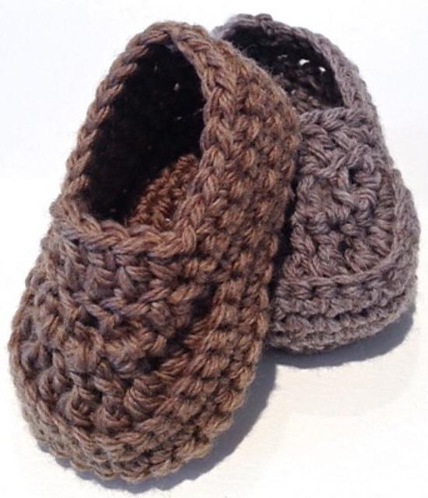 Oh Baby Boy Loafer Booties Crochet Pattern By Double Diamond Knits