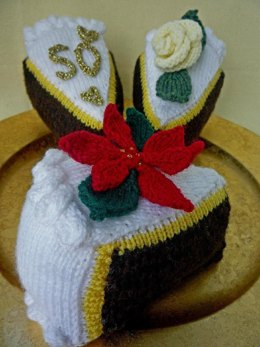 Christmas Wedding Anniversary Celebration Cake
