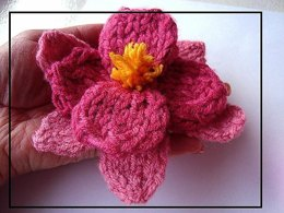 558 KNITTED ORCHID, ROSE, and LEAF