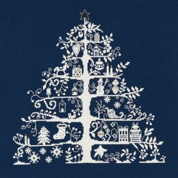 DMC Christmas Tree Blue Cross Stitch Kit - 30cm x 30cm - BKJPBK557N