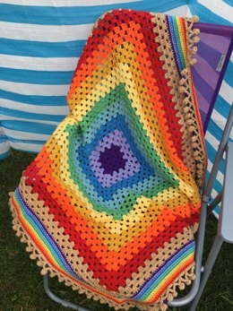 Over The Rainbow Granny Square Blanket
