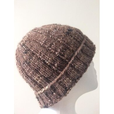 Easy peasy ribbed beanie © Seashells Designs