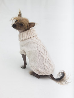 Prep Dog Sweater in Lion Brand Wool Ease - L32372
